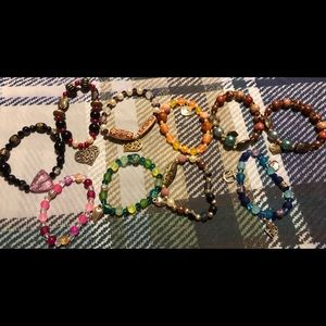 Jewelry - Lot 10 ** 9 homemade bracelets plus 1 free